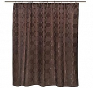 Шторка для ванной Carnation Home Fashions Jacquard Chocolate Circle FSCJAC/13