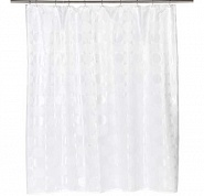 Шторка для ванной Carnation Home Fashions Jacquard White Circle FSCJAC/21
